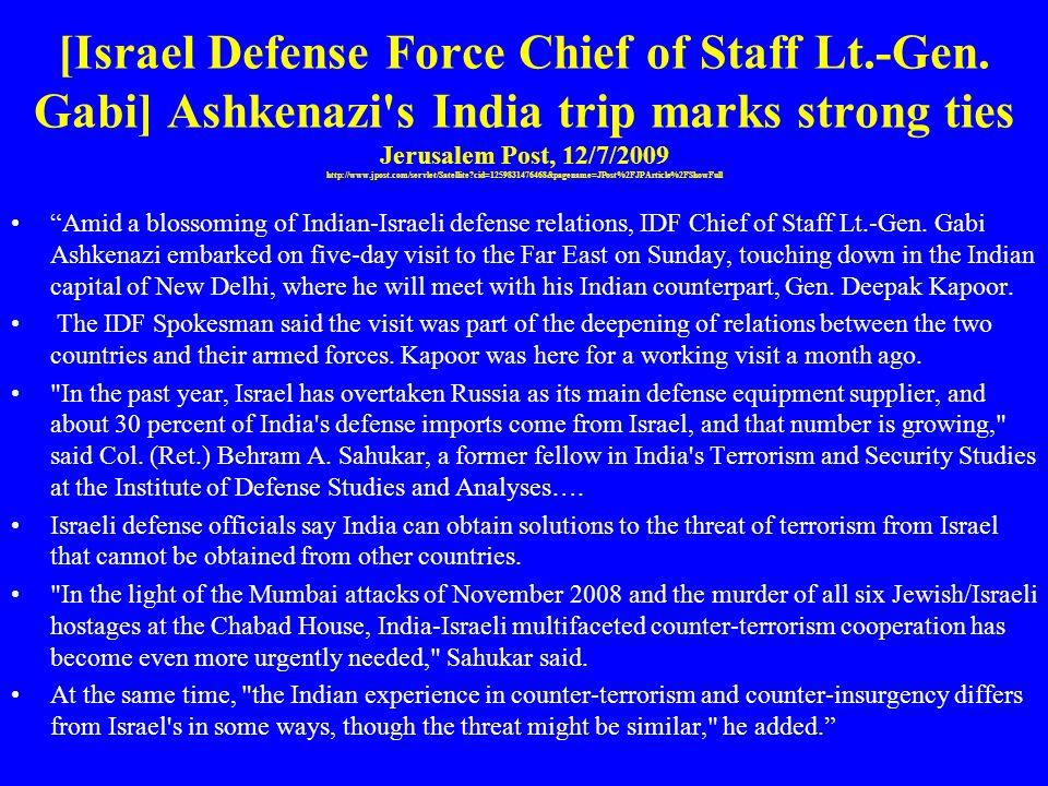 [Israel Defense Force Chief of Staff Lt. -Gen
